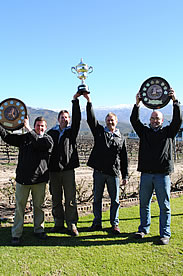 Awards - Goudini winemakers with 2012 Young Wine Show trophies